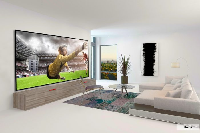 Watch the soccer league with the World's Biggest TV screen designed for 24/7 use