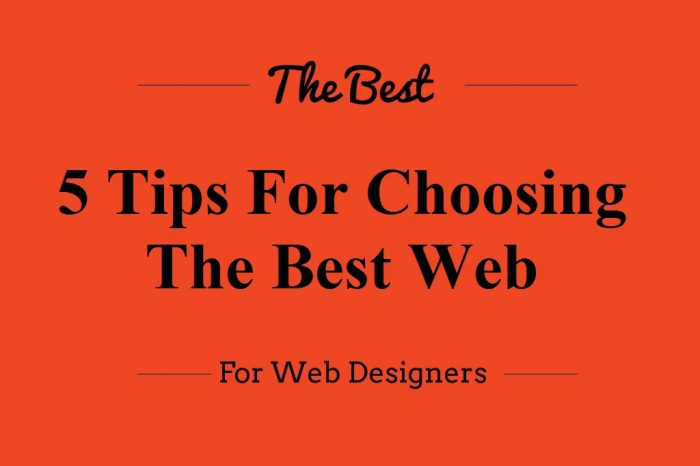 5 Tips For Choosing The Best Web Font For Your Design