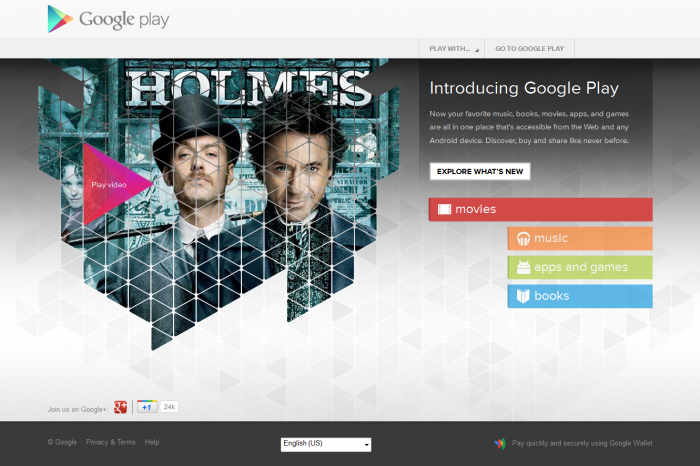 Google introduces Google Play, unification of services for Android