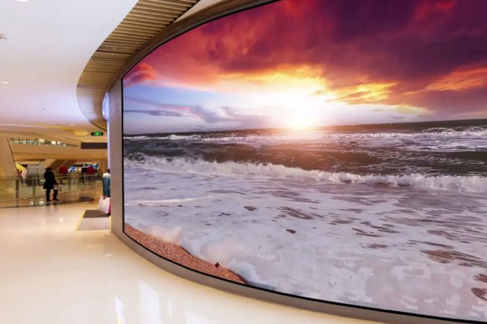 "Sharp announces ""The Canvas"" microLED COB Display for flat or curved installation"